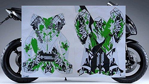 2008-2010 Kawasaki Ninja ZX10 ZX10R GREEN GRAFFITI GRAPHICS KIT