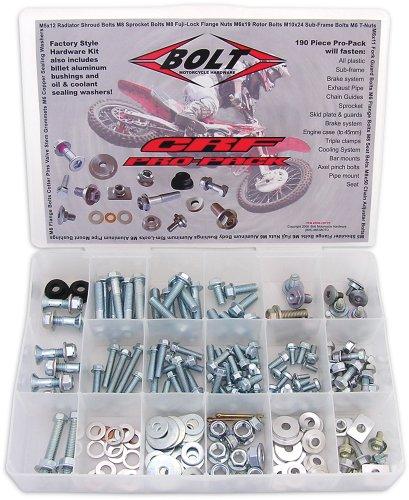 Bolt Motorcycle Hardware Pro-Pack Hardware Kit for Honda CRCRF - --