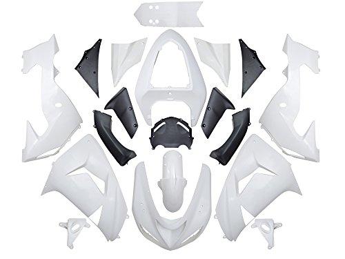 TMS Unpainted White Fairing ABS Bodywork Kit For Kawasaki Ninja ZX10R 06 07 2006 2007