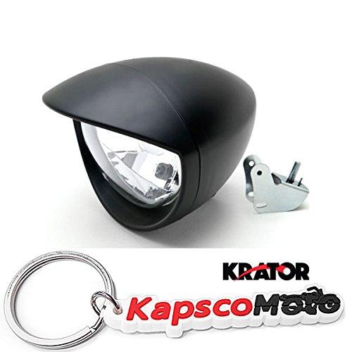 Krator Universal Motorcycle Headlight Lamp Light Black Custom Cruiser Touring Chopper for any Harley Honda Yamaha Suzuki Kawasaki Custom Bike Cruiser Choppers  KapscoMoto Keychain