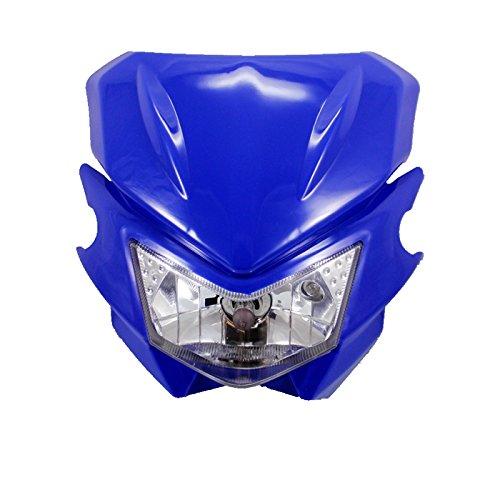 Universal Motorcycle Headlight Fairing Kit For Honda Kawasaki Yamaha Suzuki Street bike Dirt bike Dual Sport bike Cruiser Bobber Chopper Touring Atv Scooter Offroad blue