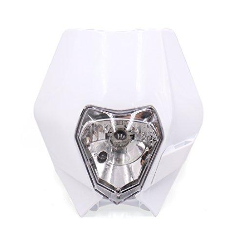 uxcell DC 12V 35W Warm White Light Universal Motorcycle Headlight Headlamp Fairing