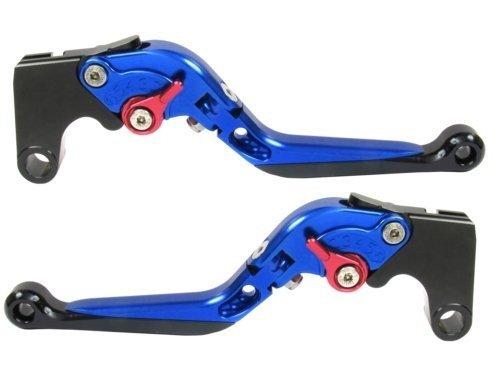 CTG Extend FOLD FOLDING Clutch Brake Levers for YAMAHA R1 2009-2014-Blue