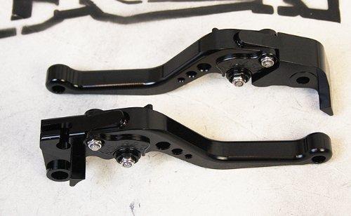 Yamaha R1 2009 - 2013 Adjustable Shorty Brake Clutch Lever - Black Color