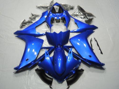 ZXMOTO Y1007BLU Motorcycle Bodywork Fairing Kit for Yamaha YZF R1 2007-2008 Blue - Pieceskit 26