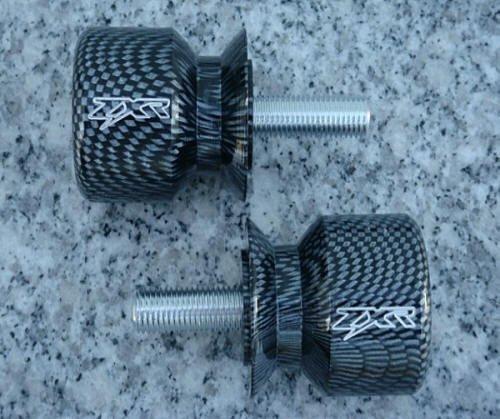 i5Â Carbon Swingarm Spools Sliders for Kawasaki Ninja 250 300 ZX6 ZX6R ZX9R ZX10 ZX10R ZX12R ZX14 ZX14R