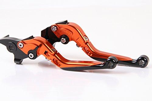 CNC Folding&Extending Brake Clutch Levers For KTM 1190 AdventureR 2013-2015 2014 Orange Black