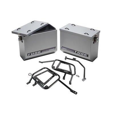 Tusk Aluminum Panniers with Pannier Racks Large Silver -Fits KTM 1190 Adventure R 2014-2015