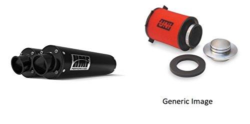 UNI Foam Air Filter HMF Black Performance-Series Dual Slip On Exhaust Turn-Down-Black for KTM 990 Adventure 2007-2008