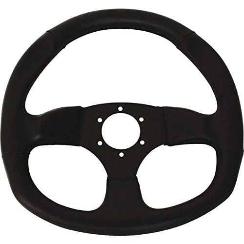 Dragonfire Racing 04-0003 D-shaped Steering Wheel 6-Bolt - SuedeBlack