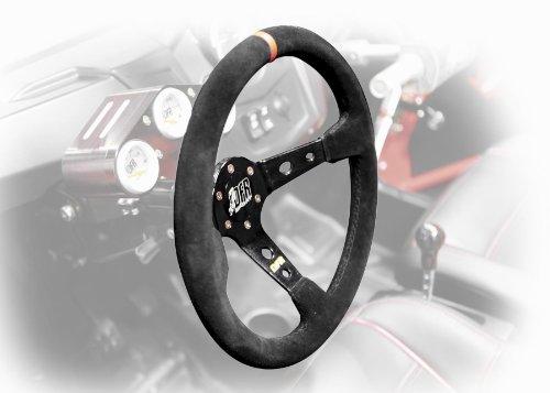 Dragonfire Racing Sport Steering Wheel Round Suede  25 Offset