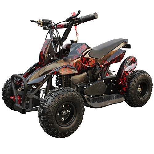 X-PRO 40cc Kids ATV 4 Wheelers 40cc ATV Quads Kids Quad with Gloves Goggle and HandgripRed Lightning