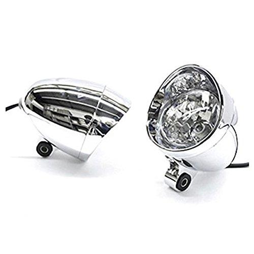 DLLL Universal Motorcycle Custom Chrome Passing Fog Headlight Head Light For Harley Davidson V-Rod Night Street V Rod