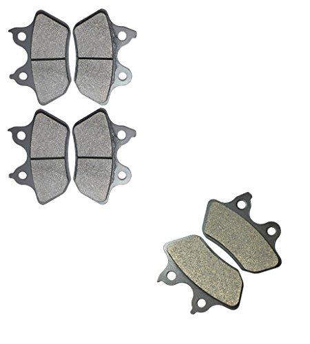 CNBK Motorcycle Carbon Brake Pad Set for HARLEY DAVIDSON Street Bike FLHTCU 1584 cc 1584cc Electra Glide Ultra Classic 07 08 09 10 11 12 13 14 15 2007 2008 2009 2010 2011 2012 2013 2014 2015 6 Pads
