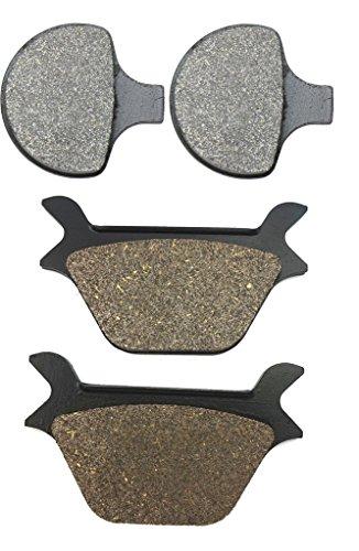 CNBK Motorcycle Semi-Metallic Brake Shoe Pads Set for HARLEY DAVIDSON Street Bike FXDWG 1340 cc 1340cc Dyna Wide Glide 93 94 95 96 97 98 99 1993 1994 1995 1996 1997 1998 1999 4 Pads