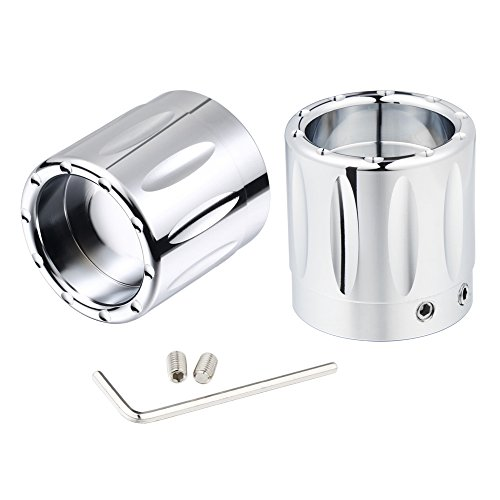 Amazicha Chrome Front Axle Nut Covers Caps for Harley Electra Glide 2008-2019