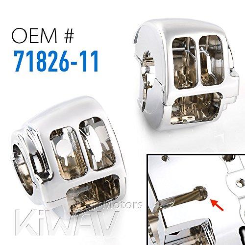 KiWAV Chrome Switch Housing for Harley-Davidson 12-later Dyna Softail 14-later XL OEM71826-11