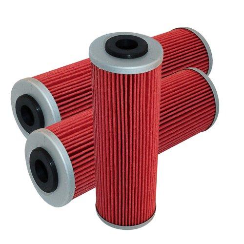 Caltric 3-PACK Oil Filter Fits KTM 990 SMT SM-T SM R 990 ADVRENTURE 690 SUPER ENDURO 2008 2010-2013