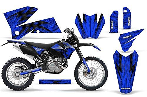 CreatorX KTM 05-07 EXCXC 05-06 SX Graphics Tribal Bolts Blue