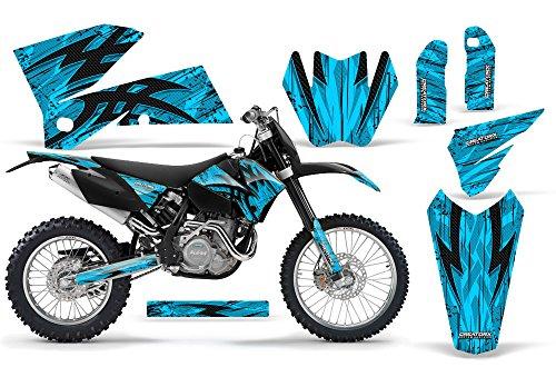 CreatorX KTM 05-07 EXCXC 05-06 SX Graphics Tribal Bolts Blue Ice