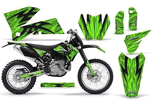 CreatorX KTM 05-07 EXCXC 05-06 SX Graphics Tribal Bolts Green