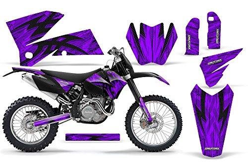 CreatorX KTM 05-07 EXCXC 05-06 SX Graphics Tribal Bolts Purple