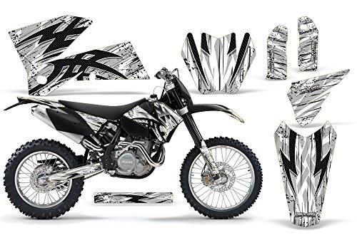 CreatorX KTM 05-07 EXCXC 05-06 SX Graphics Tribal Bolts White