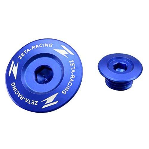ZETA Anodized Aluminum BLUE Engine Plug Set 2 Pieces DRZ400 SSME 00-13