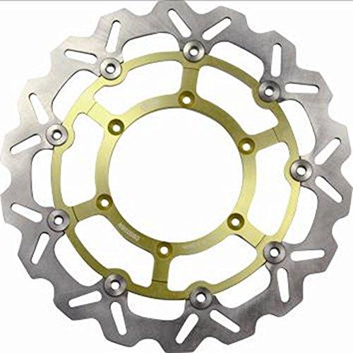 Alpha Rider Motorcycle CNC Stainless Steel Front Left Gold Brake Discs Brake Rotor For SUZUKI DRZ 400 SM 2005 2006 2007 2008 2009