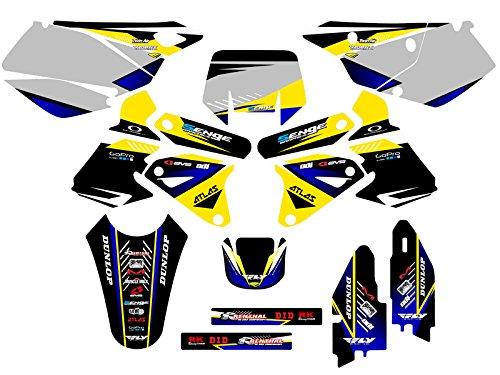 Senge Graphics 2000-2004 Suzuki DRZ 400 SM Surge Yellow Graphics Kit