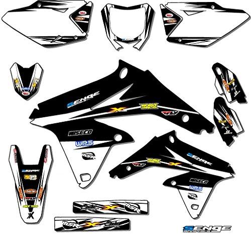 Senge Graphics 2000-2004 Suzuki DRZ 400 SM Velocity Black Graphics Kit
