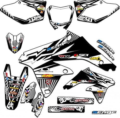 Senge Graphics 2005-2017 Suzuki DRZ 400 SM Mayhem White Graphics Kit