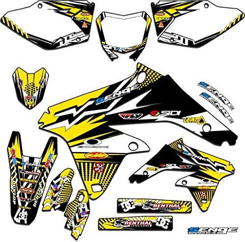 Senge Graphics 2005-2017 Suzuki DRZ 400 SM Mayhem Yellow Graphics Kit