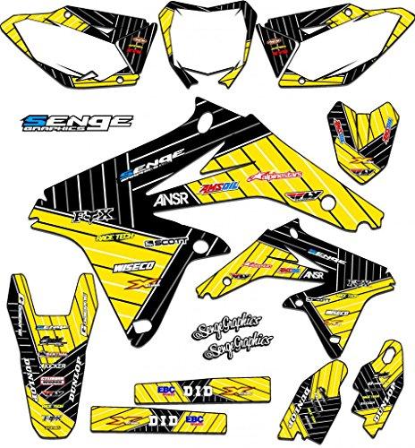 Senge Graphics 2005-2017 Suzuki DRZ 400 SM Race Series Yellow Graphics Kit