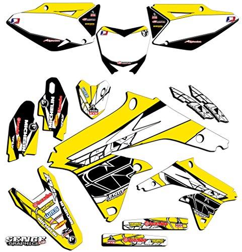 Senge Graphics 2000-2004 Suzuki DRZ 400 Fly Yellow Graphics Kit