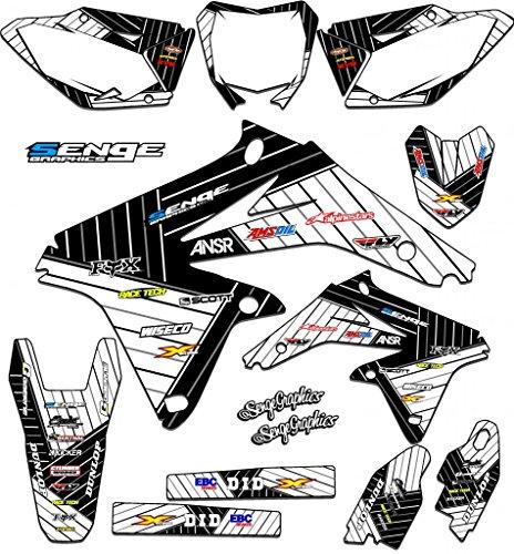 Senge Graphics 2000-2004 Suzuki DRZ 400 Race Series White Graphics Kit