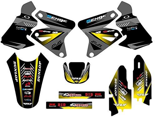 Senge Graphics 2000-2004 Suzuki DRZ 400 SM Surge Black Graphics Kit