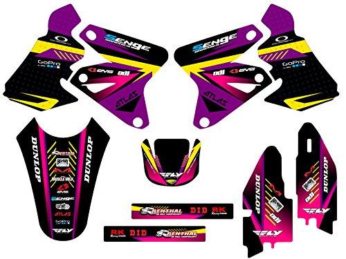 Senge Graphics 2000-2004 Suzuki DRZ 400 Surge Purple Graphics Kit