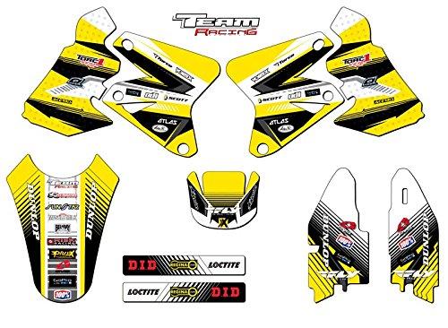Team Racing Graphics kit for 2000-2004 Suzuki DRZ 400 ANALOGBase kit