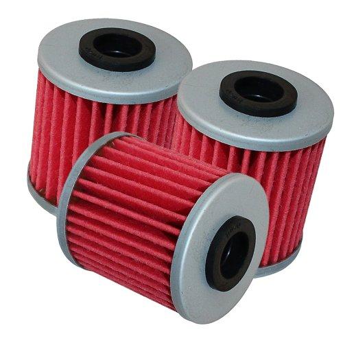 Caltric 3-PACK Oil Filter Fits SUZUKI 125 FL125 FL-125 SDW ADDRESS 250 RMZ450 449 RMZ250 RMZ-250 249 2007-2014