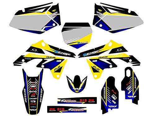 Senge Graphics 2007-2009 Suzuki RMZ 250 Surge Yellow Graphics Kit