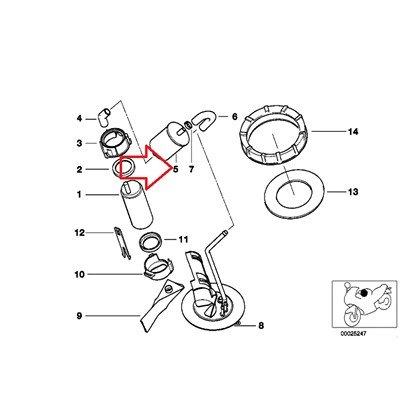 BMW Genuine Fuel Pump Filter R1100GS R1100R R850 R1100RS R1100S R1100RT R1200C R1200 Montauk R1200C Independent K1 K100RS K1100LT K1100RS K1200LT K1200RS R1200ST R1200CL K1200GT K1200RS K75 K75C K75RT K75S K100 K100LT K100RS K100RT R1150GS R1150 Adventure