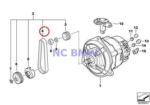 BMW Genuine Motorcycle Alternator 50 Amp Generator Ribbed V-Belt R1100GS R1100R R850 R1100RS R1100S R1100RT R1200C R1200 Montauk R1200C Independent R1200CL R1150GS R1150 Adventure R1150RS R1150RT R115