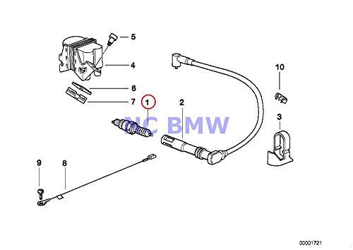 BMW Genuine Motorcycle Engine Ignition System Spark Plug NGK BKR7EKC R1100S R1200C R1200 Montauk R1200C Independent R1200CL R1150GS R1150 Adventure R1150RS R1150RT R1150R R1150R Rockster