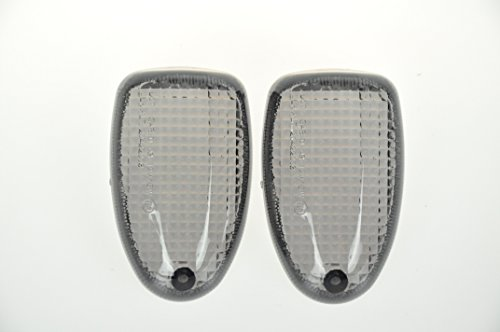Topzone Moto Smoked Motorcycle Indicators Turn Signal Lens For BMW R1100R R850R R1150GS R1150R R1150GS R1200C R1100S Rear 1997-2004 K1200RS