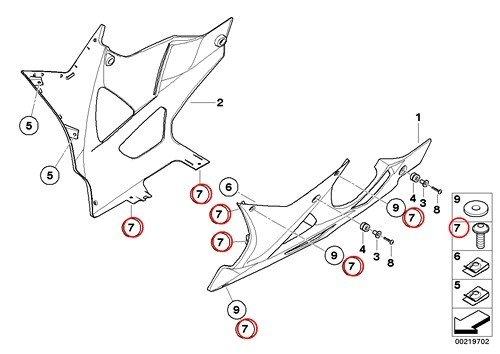 9 X BMW Genuine Motorcycle Fillister Head Screw M5X14 F650CS HP2 Enduro Megamoto R1200RT R900RT R1200R R1200ST HP2 Sport R1200S K1200S K1300S K1200R Sport K1300R K1200GT K1300GT S1000RR K1600GT