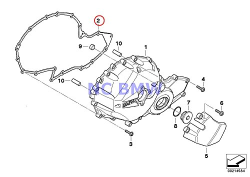 BMW Genuine Motorcycle Engine Housing Cover Right Gasket A15 K1200S K1300S K1200R K1200R Sport K1300R K1200GT K1300GT