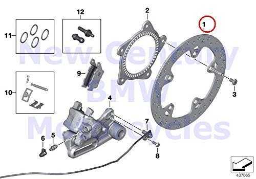 BMW Genuine Motorcycle Rear Wheel Brake Rear Brake Disc R nine T R1200GS R1200GS Adventure HP2 Enduro HP2 Megamoto R1200RT R900RT R1200R R1200ST HP2 Sport R1200S K1200S K1300S K1200R K1200R Sport K13