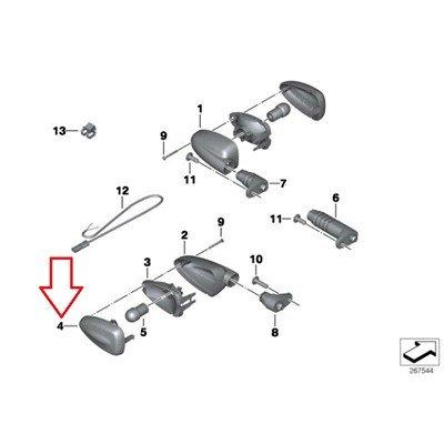 BMW Genuine Turn Indicators White Lamp Lens R1200GS R1200GS Adventure HP2 Enduro HP2 Megamoto R1200R R1200ST HP2 Sport K1200R K1200R Sport K1300R F800S F800ST F650GS F800GS F800R
