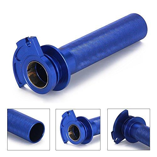 JFG RACING Blue CNC Aluminum Billet Anodised Lever Control Twister Throttle Handle Tube For YAMAHA YZ125 YZ250 96-14 SUZUKI RM250 95-05 RM125 95-07 KAWASAKI KX125 92-05 KX250 92-07